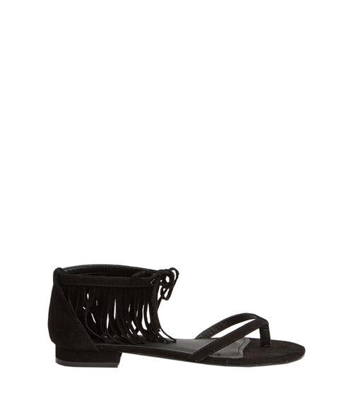 Sandales plates à franges