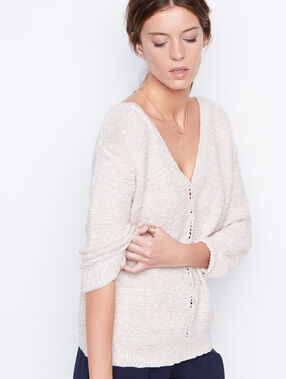 V-neck sweater pink.