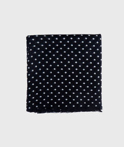 Spotted scarf black.