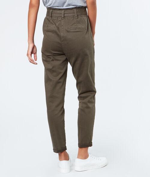 Pantalon carotte en coton