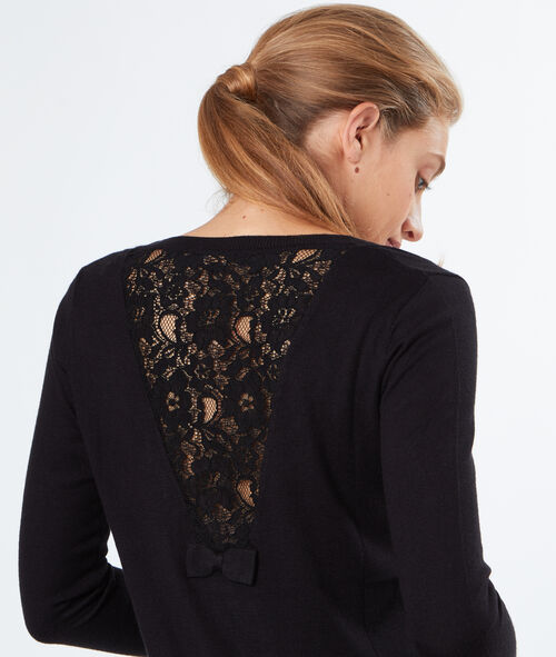 Laced back cardigan