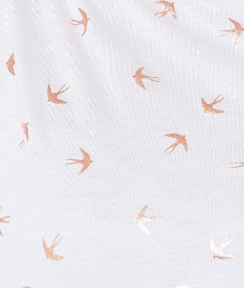 Top sans manches imprimés oiseaux