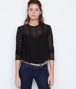 Long sleeves blouse black.