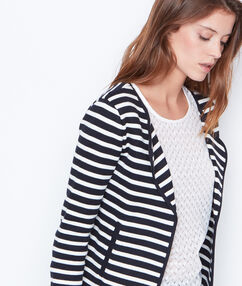Striped jacket navy.