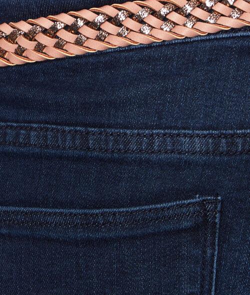 Short en jean ceinturée