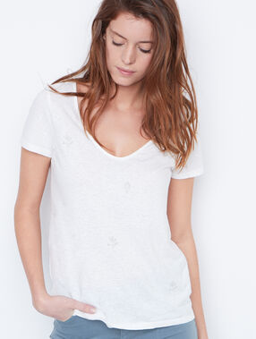 Short sleeve t-shirt white.