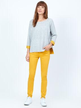 Pantalon skinny jaune.