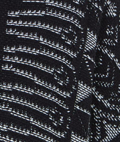 Veste en maille à franges