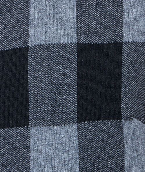 Check knit jacket