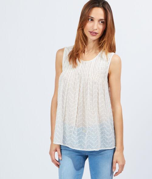 Top blouse transparent plissé