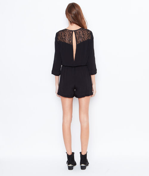 Playsuit with split back