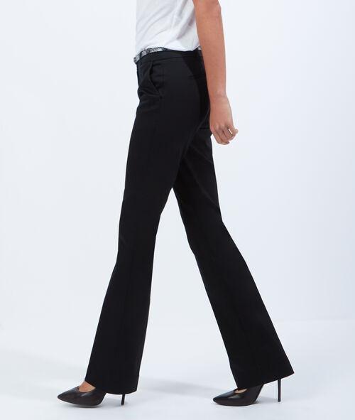 Pantalon de tailleur large, ceinture effet serpent