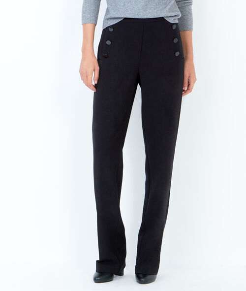 Pantalon large, détails boutons