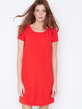 Short sleeve dress red.