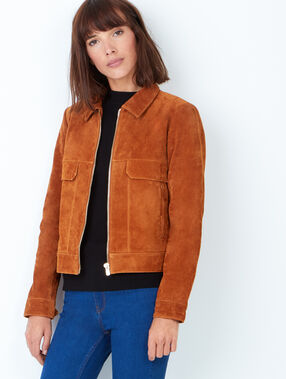 Leather jacket camel.