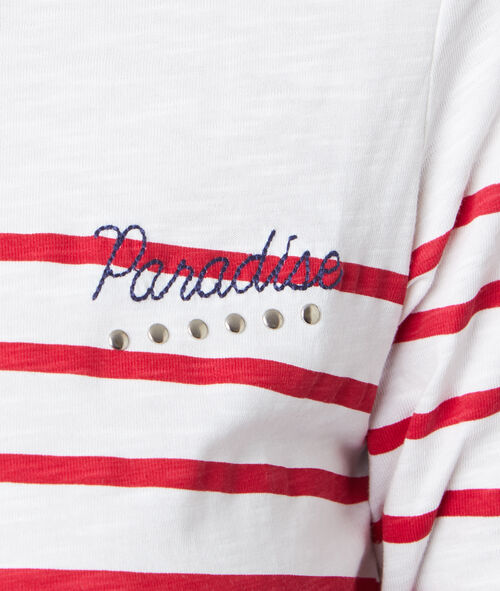 Sailor top with embroidery