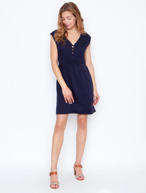 Sleeveless dress navy.
