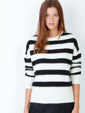 Knit sweater white.