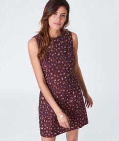 Sleeveless mini dress burgundy.