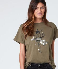 T shirt col rond avec imprimé