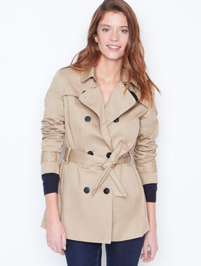 3/4 trench coat beige.