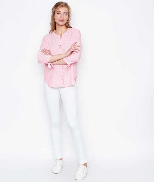 Chemise rayée manches 3/4