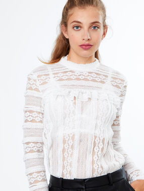 Laced top white.