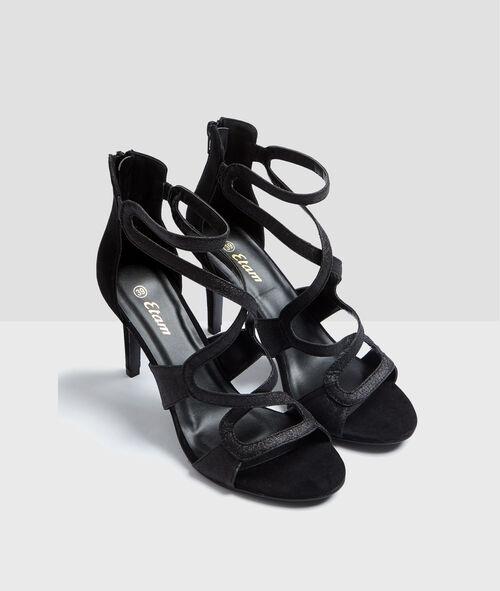 Sandales à talons pailletées