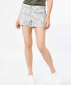 Jacquard shorts off-white.