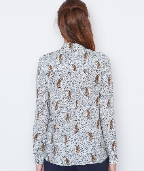 Chemise à imprimé tigre