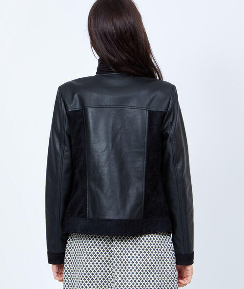 Effect leather jacket