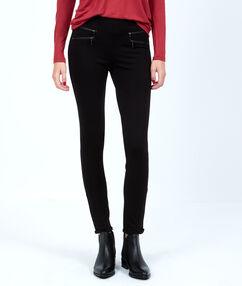 Legging détails zips noir.