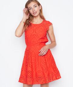 Open back dress red.