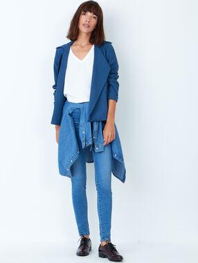 Jacke blau.