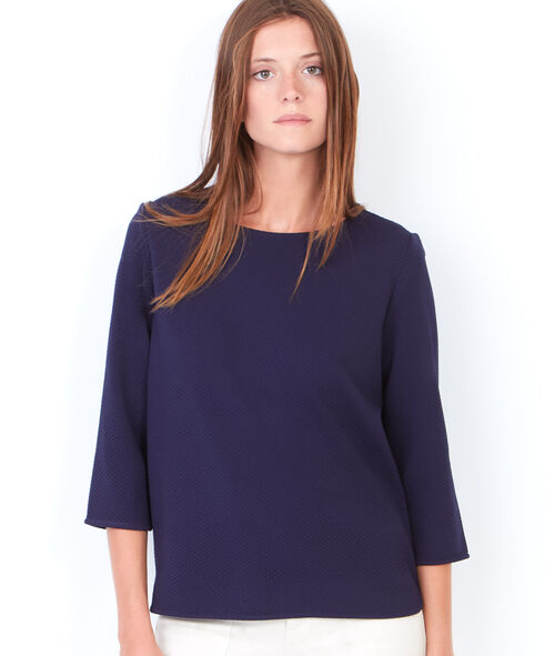 3/4 sleeve top with round collar