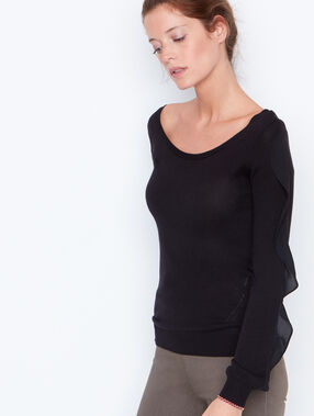 Long sleeves sweater black.