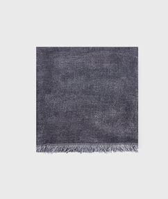 Foulard pailleté à franges noir.