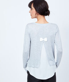 Two-in-one sweater grey.