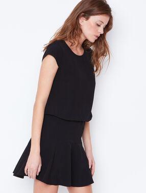 Flare dress black.