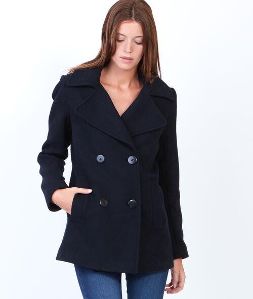 Manteau caban en laine