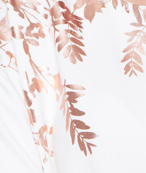 Sweat feuilles sérigraphiées