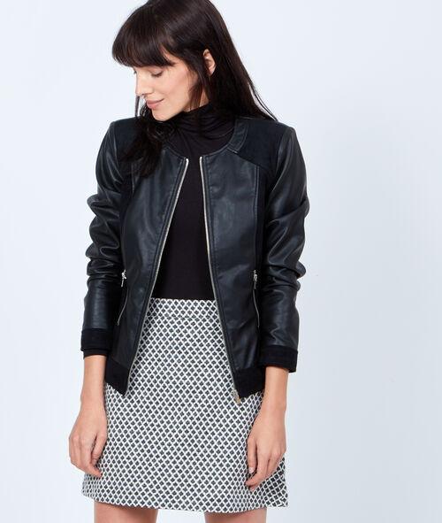 Effect leather jacket