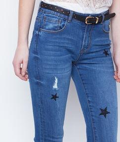 Pantalón vaquero estrecho estampado estrellas c.denim.
