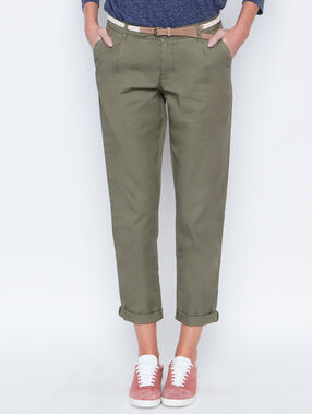 Carrot pants khaki.