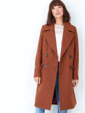 Long pea coat camel.