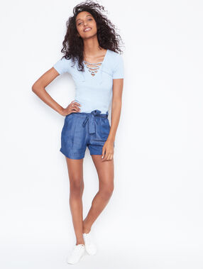 Short sleeves top lightblue.