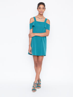 Cold shoulder dress emeraid.