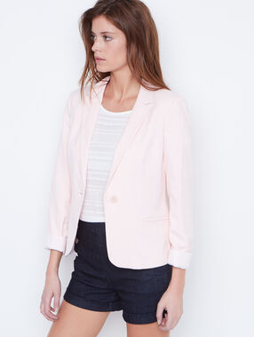 Suit jacket blush.