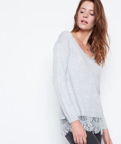 Lace sweater grey.