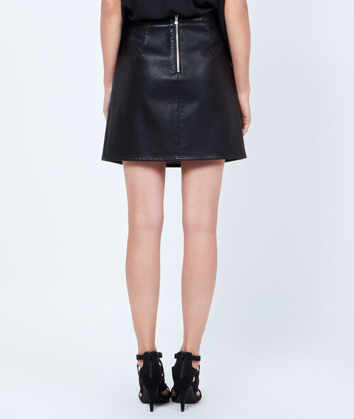 A-line skirt, leather effect